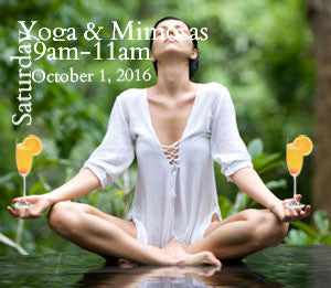 yoga and mimosas postcard