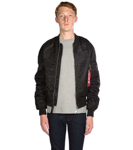 ALPHA INDUSTRIES - MA-1 SOUVENIR SHINTO BLACK