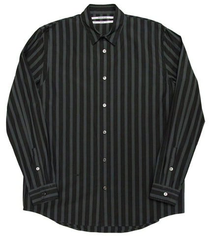 ROBERT GELLER - THE OVER-DYED STRIPE PLEAT SHIRT