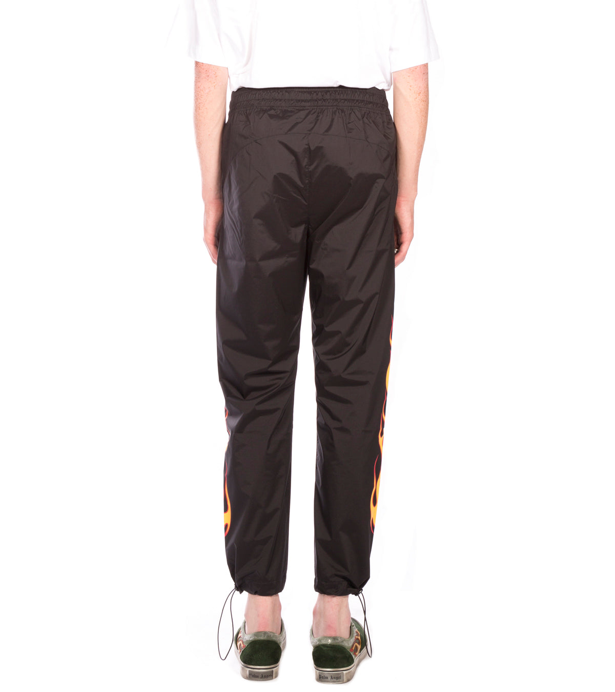 PALM ANGELS - PALMS AND FLAMES PANTS BLACK MULTICOLOR