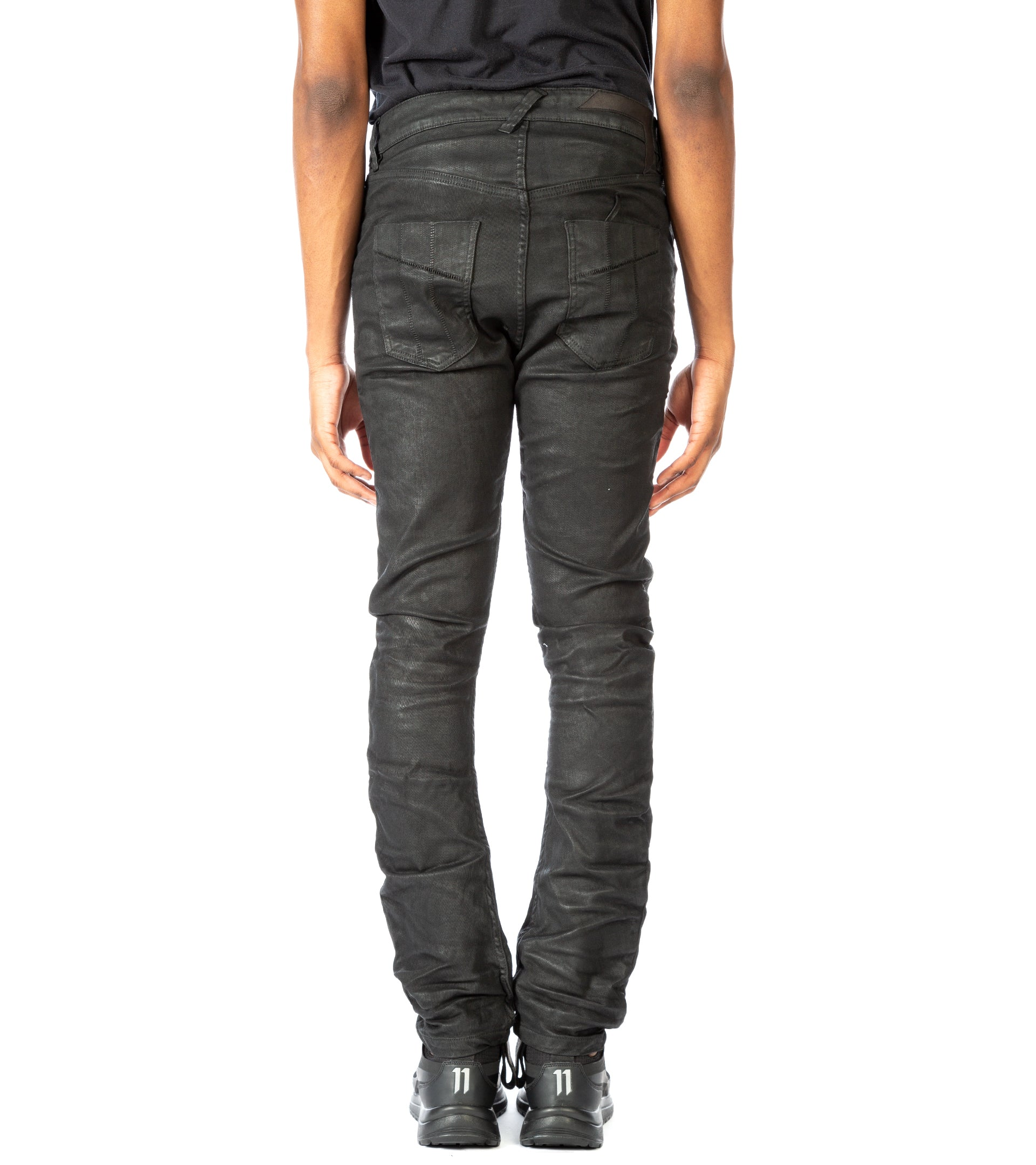 BLACK WAXED DENIM
