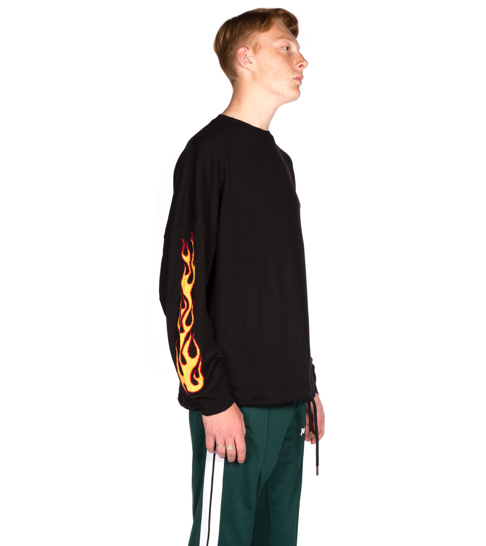 PALM ANGELS - PALMS AND FLAMES SWEATER