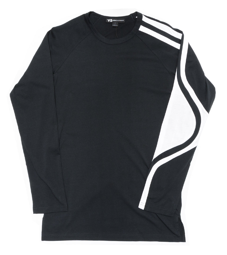 3d0d830176be7 All Products. Y-3 - STRIPES LONG SLEEVE TEE ...