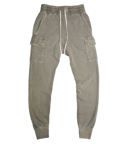 REPRESENT - WASHED MILITARY JOGGERS - COMMON  - 1