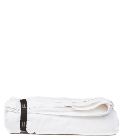 WHITE LOGO TOWEL