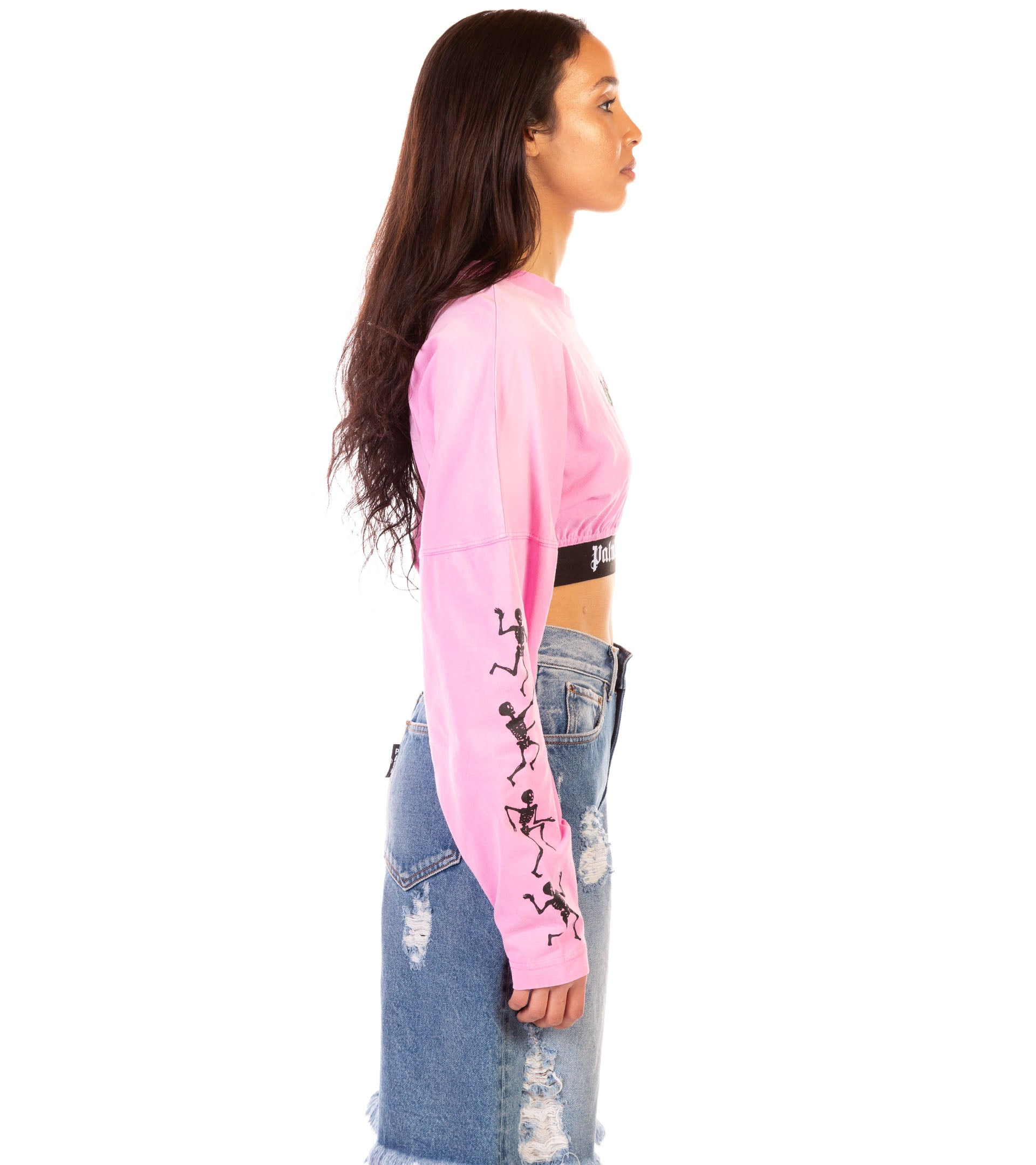 BURNING LOGO MAXI CROP LS TEE