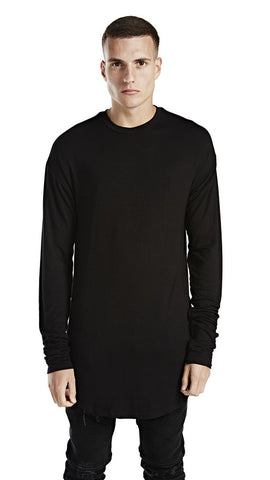 Represent - Essential Long Sleeve Scooped Under T-Shirt - Black - COMMON