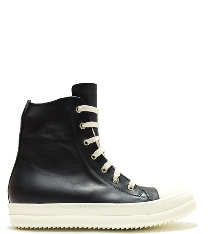 RICK OWENS - LEATHER SNEAKERS