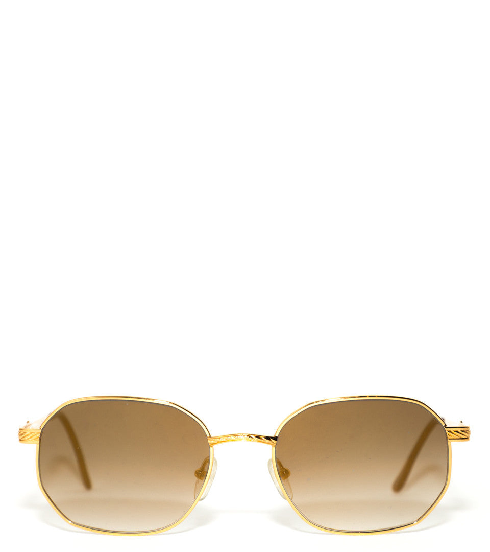 VINTAGE FRAMES - DAVE EAST FOR VINTAGE FRAMES 24KT GOLD SUNGLASSES