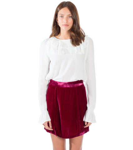 CLAIRE RUFFLE BLOUSE