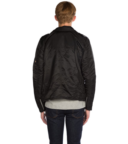 ALPHA INDUSTRIES - OUTLAW BIKER JACKET BLACK