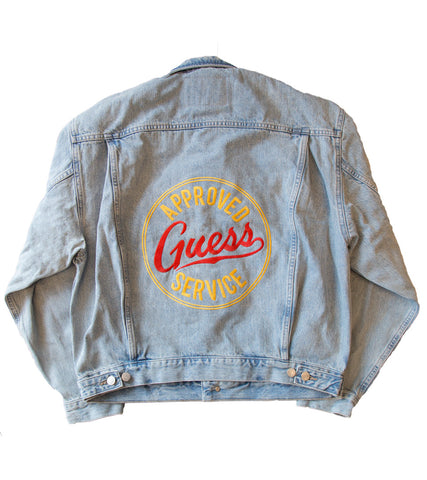 GUESS ORIGINALS x A$AP ROCKY - Unisex Denim Jacket with Approved Service Logo