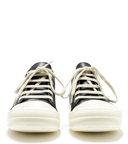 RICK OWENS - LEATHER LOW SNEAKERS