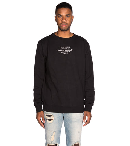 marcelo burlon - staff crewneck sweater