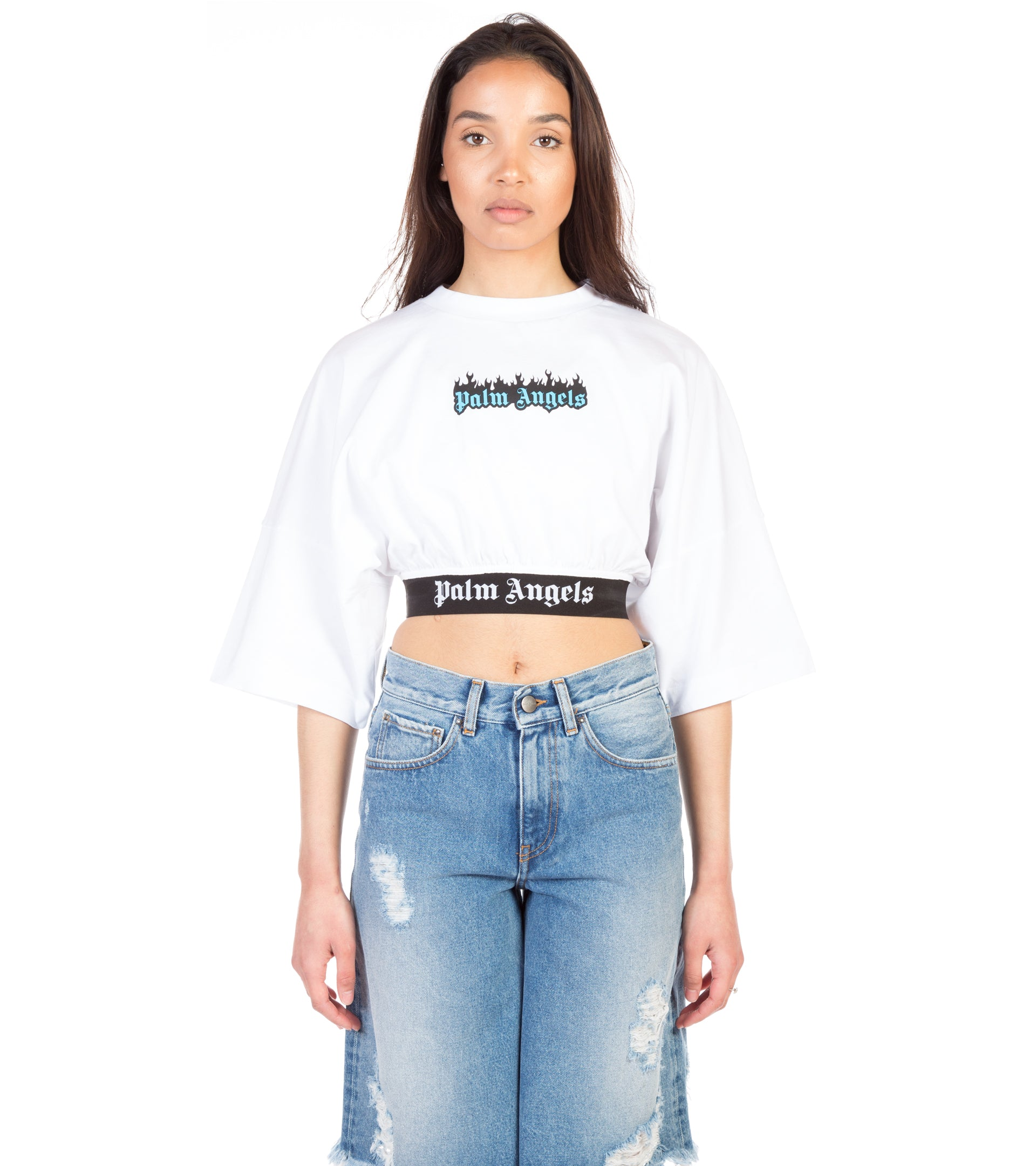 BURNING LOGO CROPPED TEE