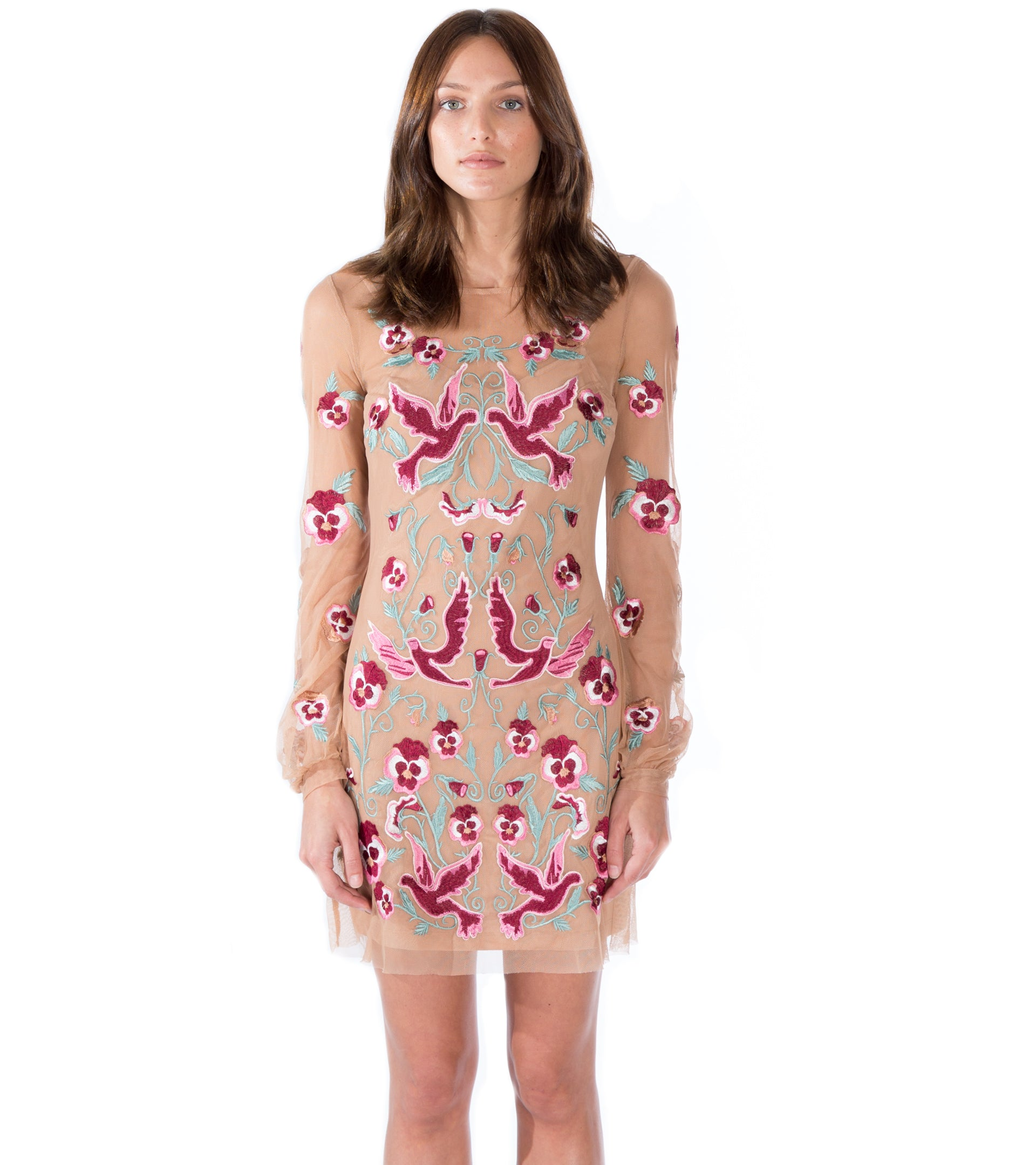 3259c419eb44 For Love And Lemons. DOVE EMBROIDERY MINI DRESS ...