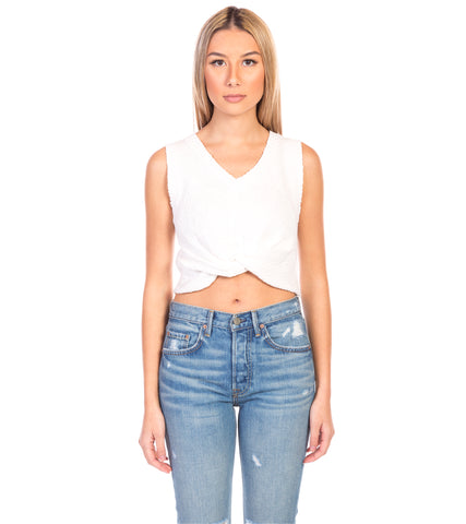 RIBBED EDGES CROP TOP