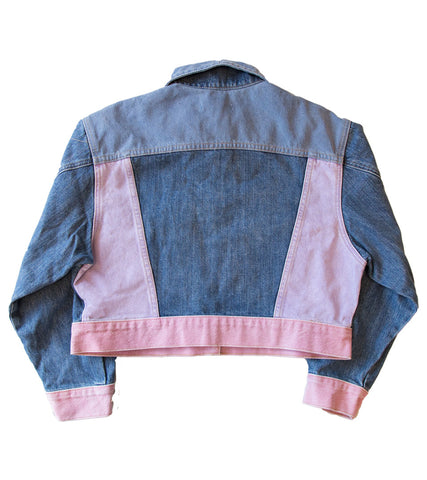 GUESS ORIGINALS x A$AP ROCKY - Cropped Boxy Denim Jacket w/ Colour Panels