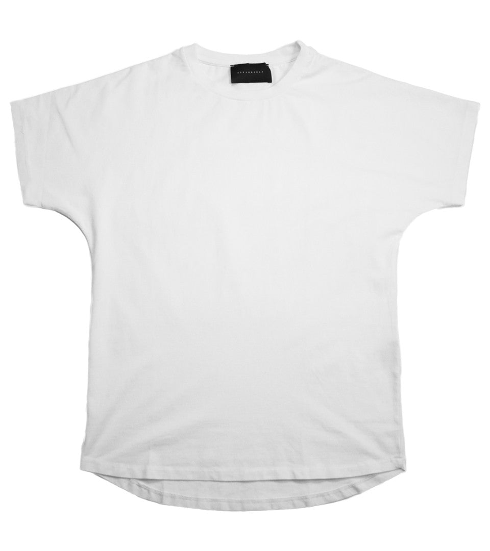 Askyurself - White Split Crew Tee - COMMON  - 1