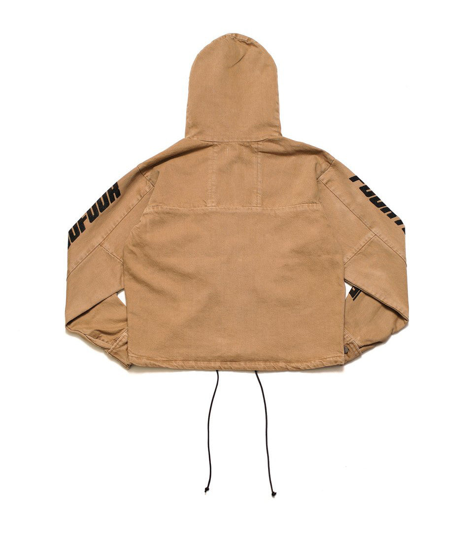 424 - Camel Cropped Denim Parka