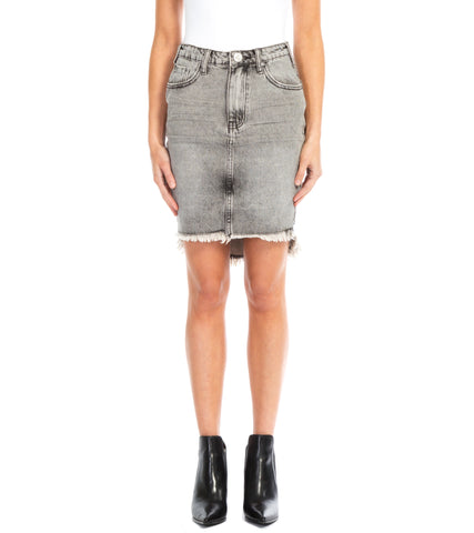 RAW HEM MINI SKIRT