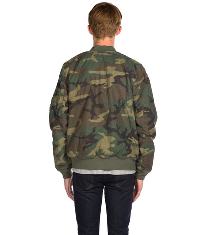 ALPHA INDUSTRIES - MA-1 CTN WOODLAND CAMO