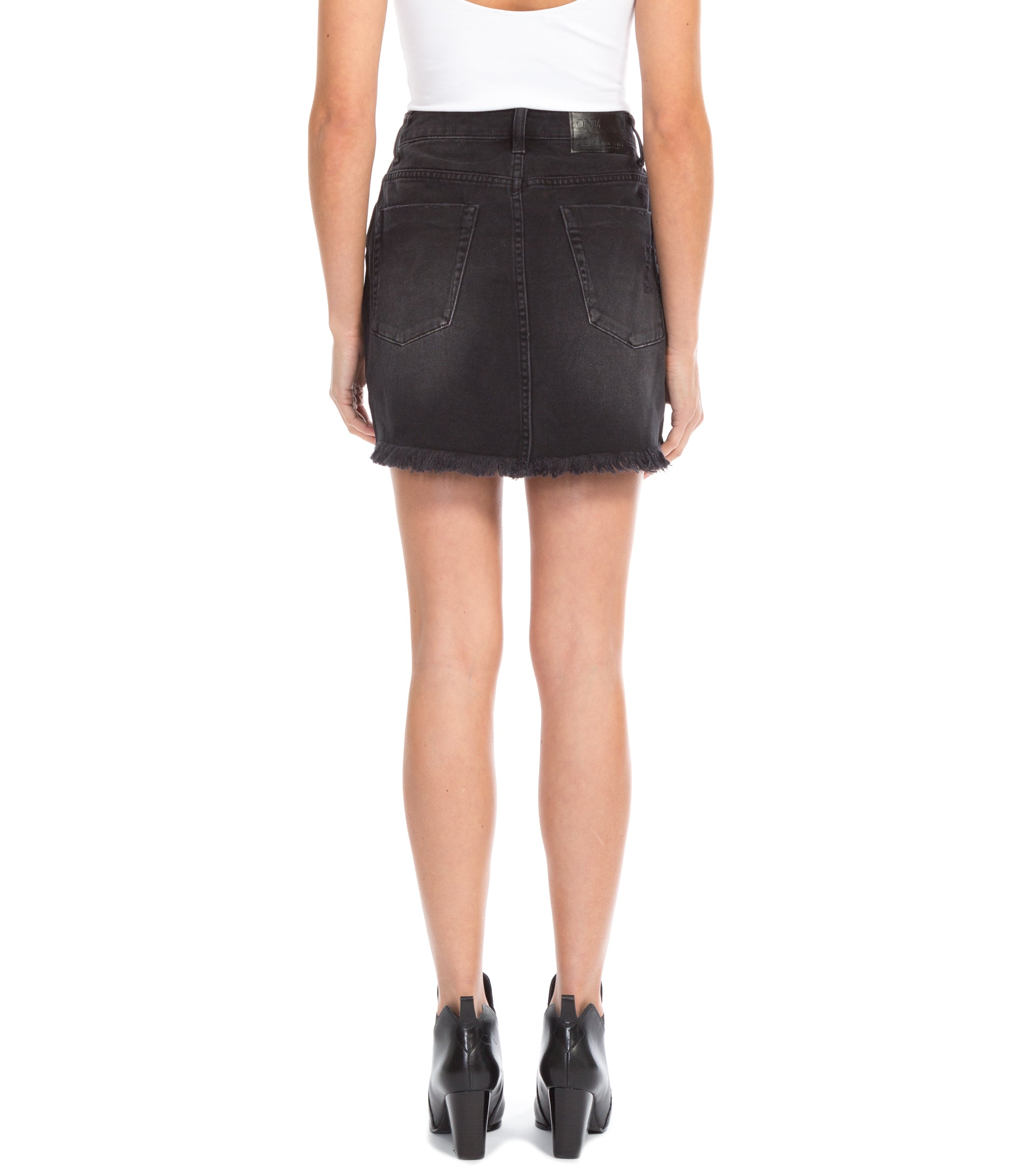 2020 MINI HIGH WAIST DENIM SKIRT