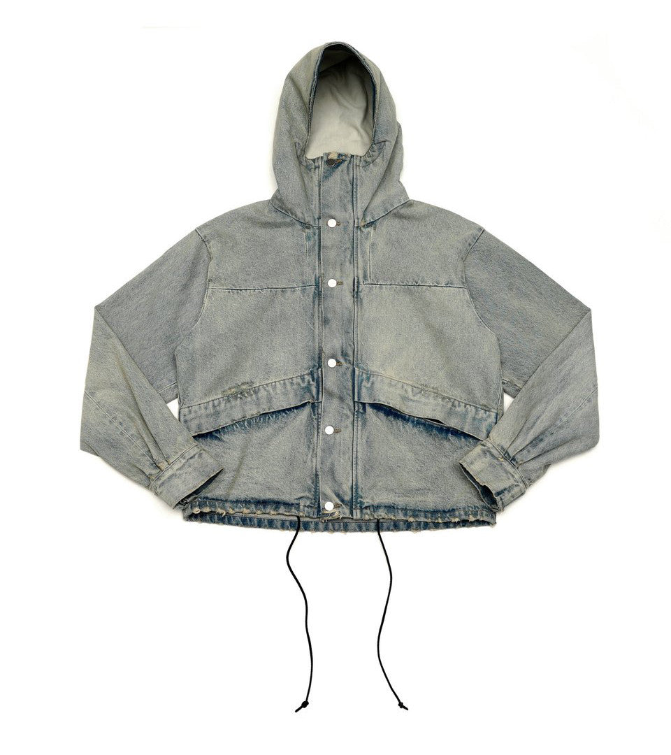 424 - Discover Cropped Denim Parka