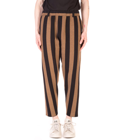 WIDE STRIPED KNIT PANT