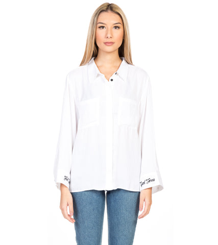 KEYSTONE FAUX SILK SHIRT