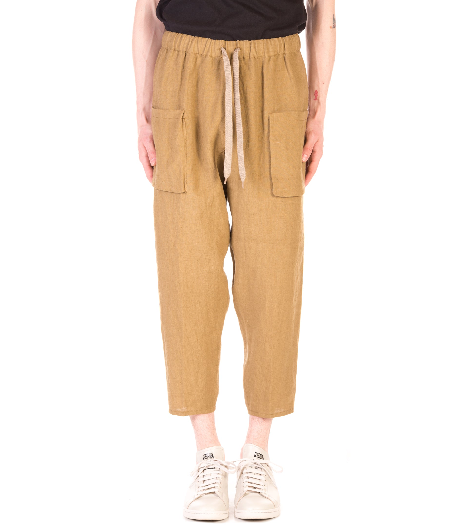 PATCH POCKET LINEN PANT