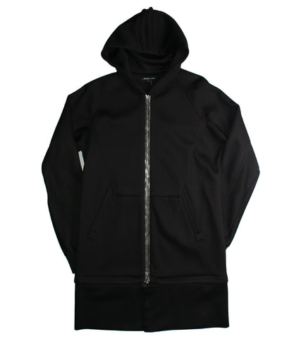 HELMUT LANG - ZIP AWAY LONG HOODIE - COMMON  - 1