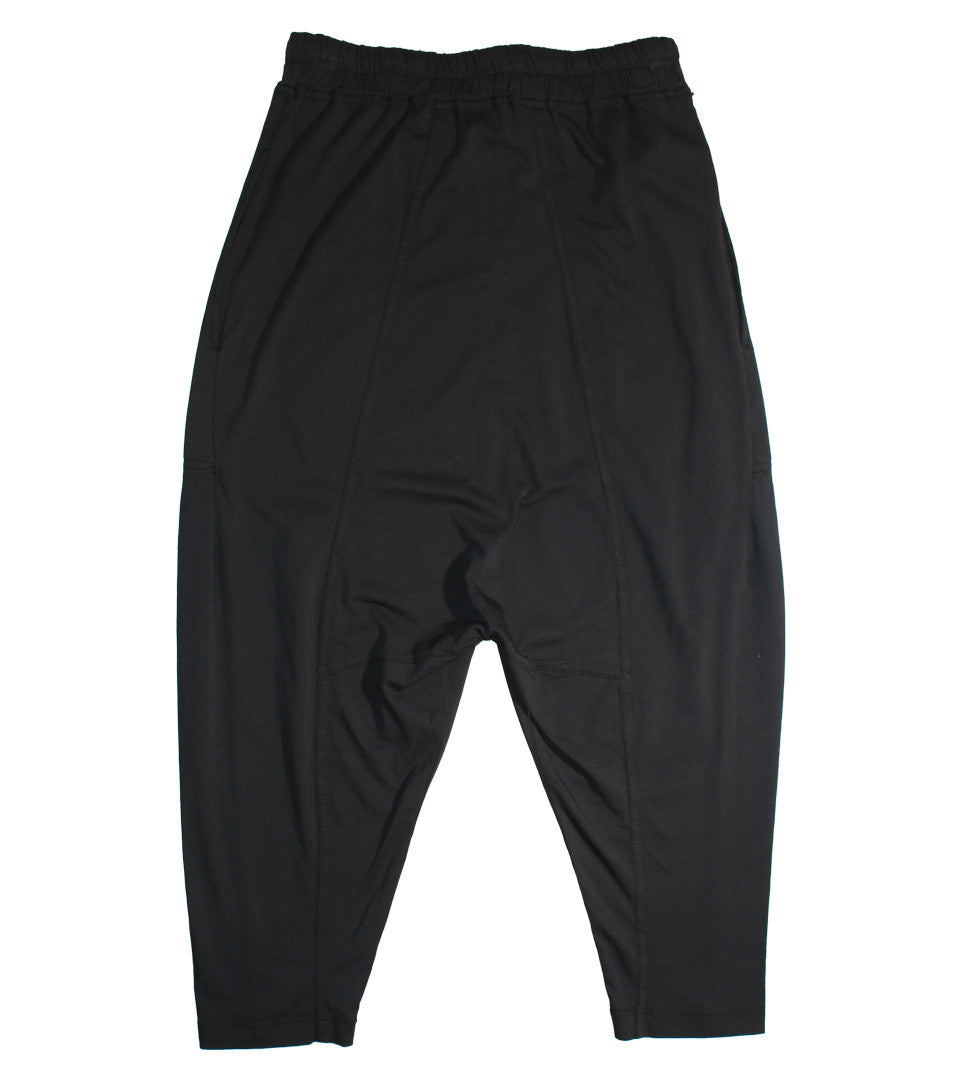 RICK OWENS DRKSHDW - DRAWSTRING CROPPED PANTS - COMMON  - 2