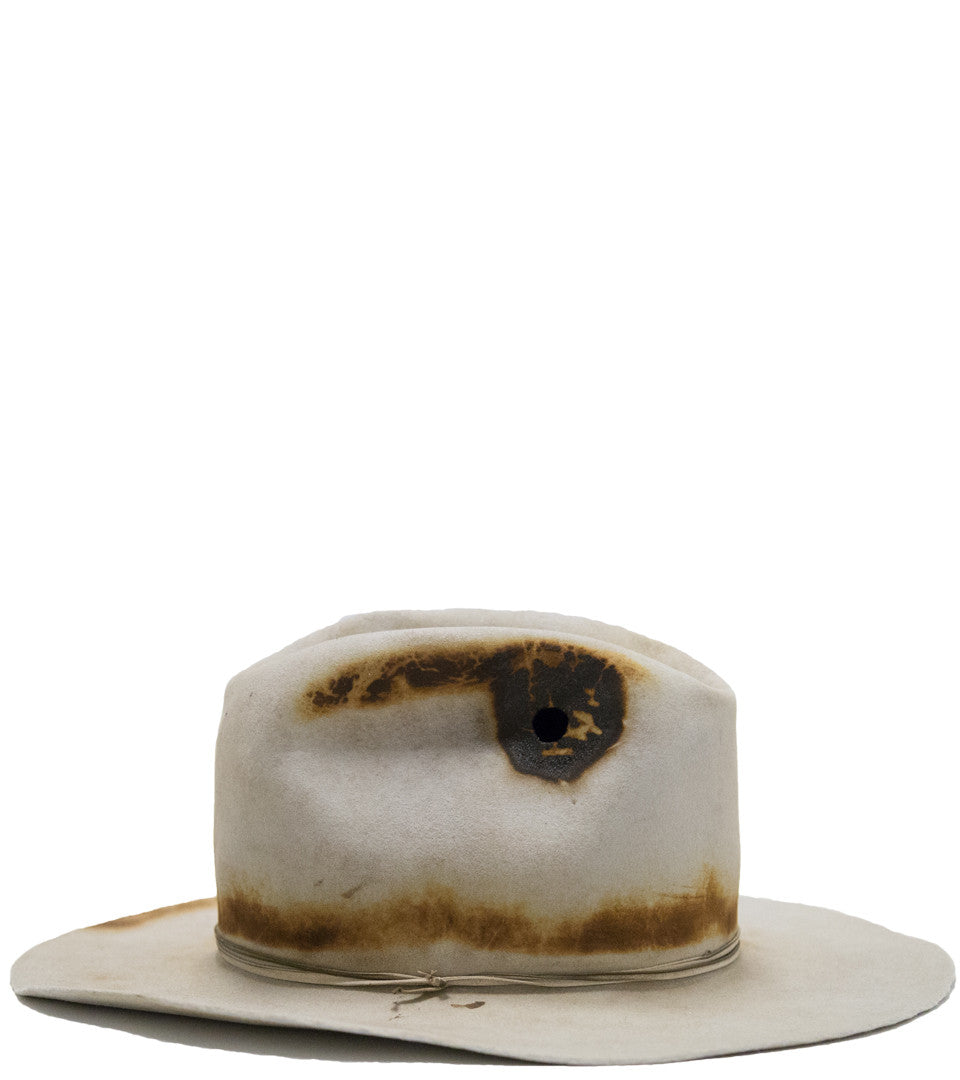 TUCKER SHANLEY HAT CO. -  DISTRESSED RABBIT FUR HAT - COMMON  - 3