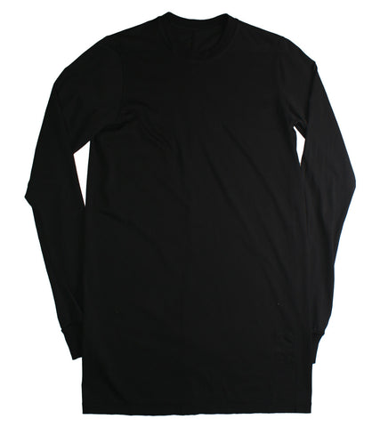 RICK OWENS DRKSHDW - LONG SLEEVE LEVEL ROUND NECK TEE - COMMON  - 1