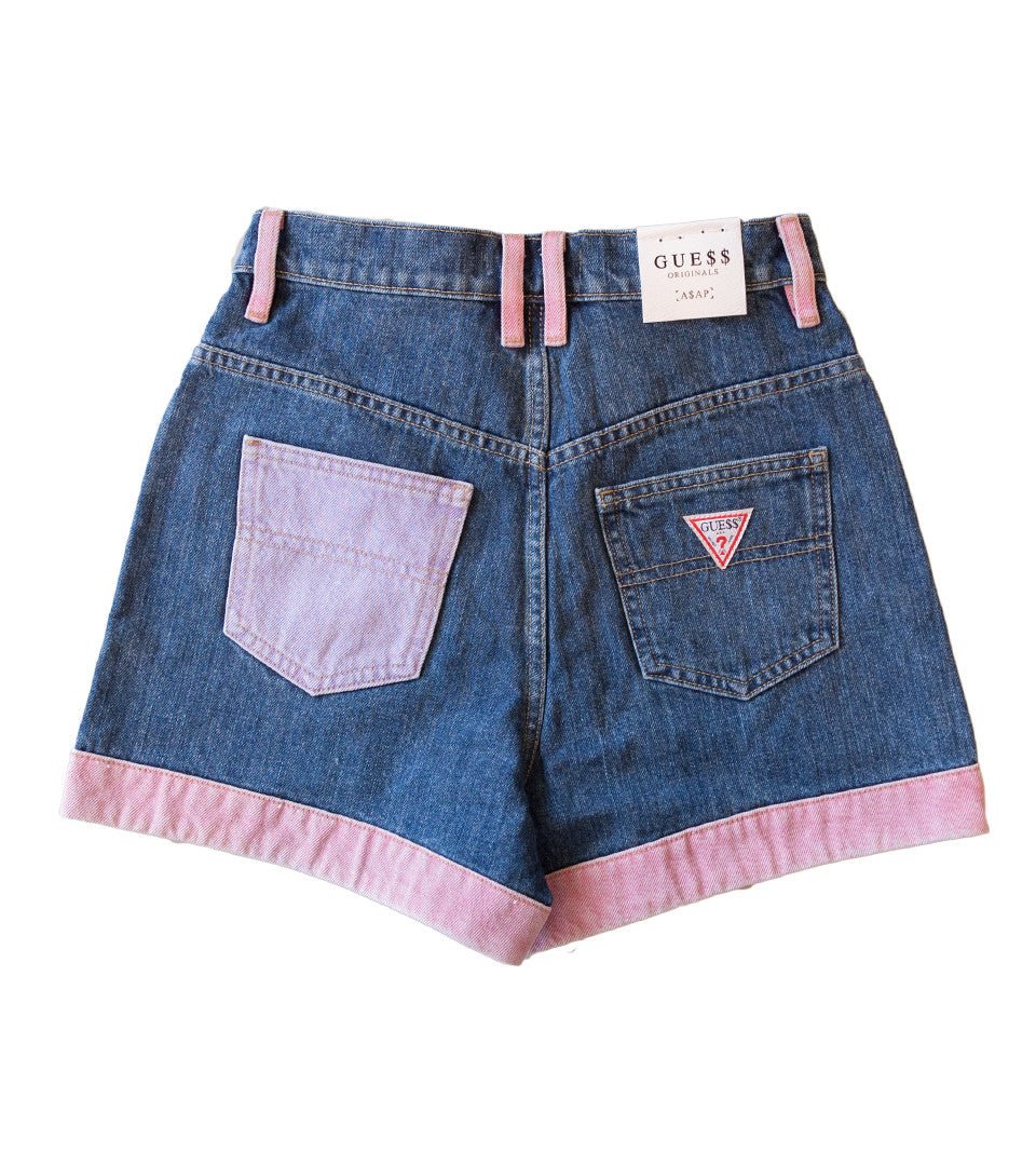 GUESS ORIGINALS x A$AP ROCKY - Denim Short w/ Colour Panels