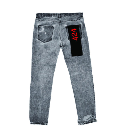 424 - DISTRESSED DENIM PANT - COMMON  - 2