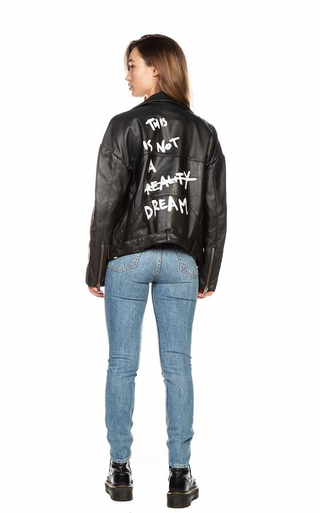 THIS IS NOT A DREAM LEATHER JACKET