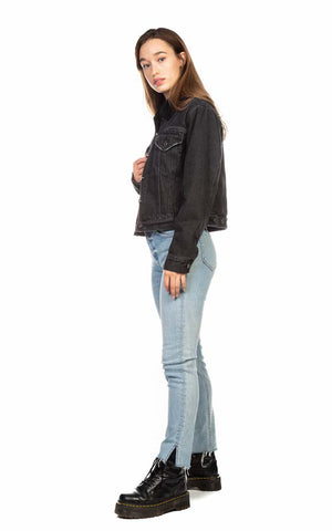 TORI CROPPED BOYFRIEND DENIM JACKET