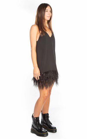 SOFIA FEATHER SLIP DRESS