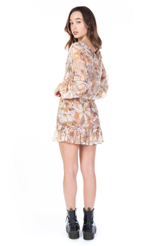 MARITZA FLORAL BELL SLEEVE DRESS