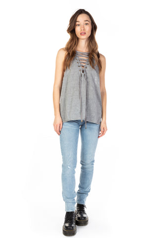 ONE TEASPOON - DIRTY WORK LACE UP TANK