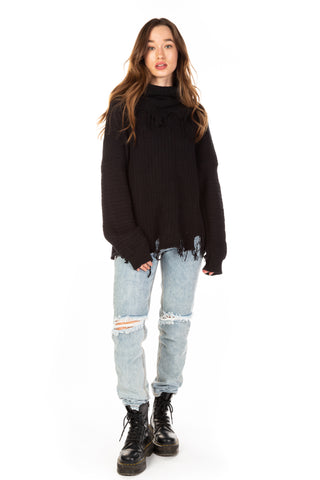OXFORD ROLL NECK SWEATER