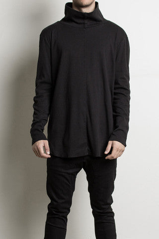Knomadik - L/S Loose Turtle Neck Black - COMMON