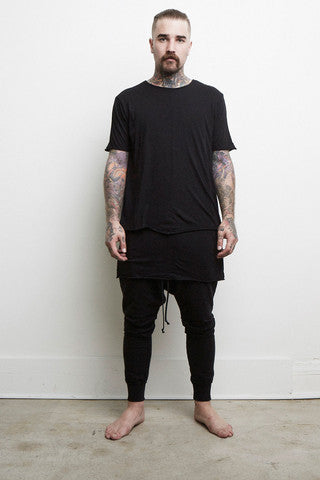 Knomadik - Layered Tee - Black - COMMON