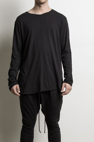 Knomadik - L/S Crew II Black - COMMON