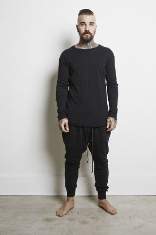 Knomadik - Knomad Long Sleeve Crew - Black - COMMON