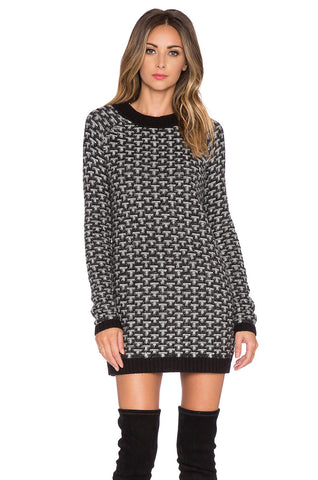 Knitz - Big Sur Sweater Dress Black - COMMON