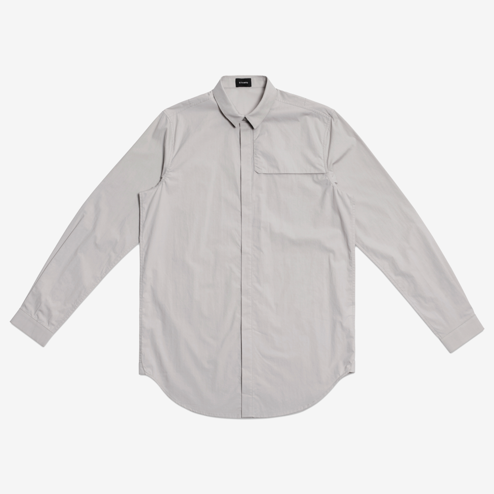 Stampd - Storm Dress Shirt Grey - COMMON  - 1