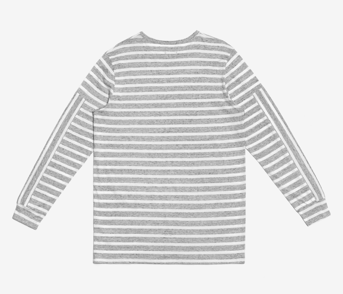Stampd - Heather Strip L/S Tee Heather Grey - COMMON  - 2